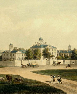 Maryland Hospital, ca. 1852. Source: Cator Collection of Baltimore Views, Enoch Pratt Free Library