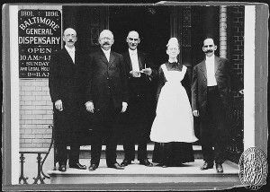 Title: Baltimore General Dispensary - Staff - 1907. Collection: Maryland Historical Society