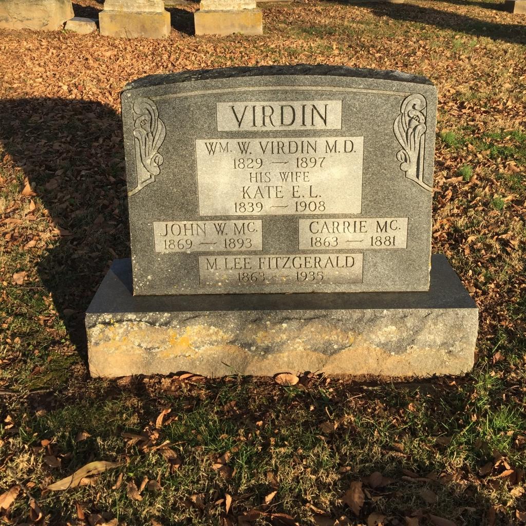 Tombstone, Dr. William W. Virdin, MD (1829-1897), Churchville Presbyterian Church, Churchville, Harford County, MD.